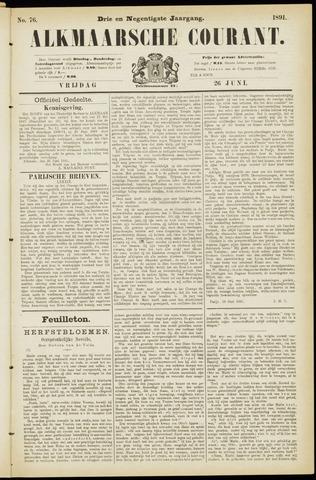 Alkmaarsche Courant 1891-06-26