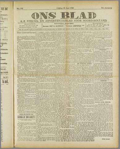 Ons Blad : katholiek nieuwsblad voor N-H 1920-06-18