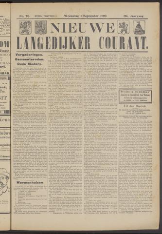 Nieuwe Langedijker Courant 1920-09-01