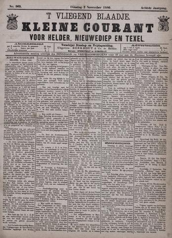 Vliegend blaadje : nieuws- en advertentiebode voor Den Helder 1880-11-02