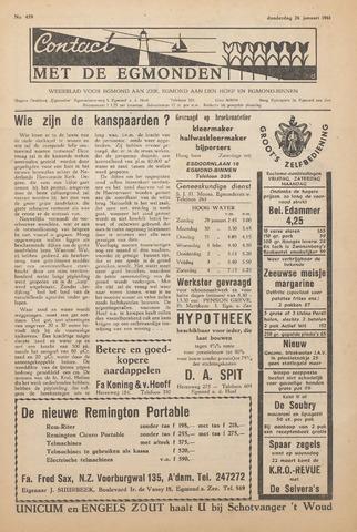 Contact met de Egmonden 1961-01-26