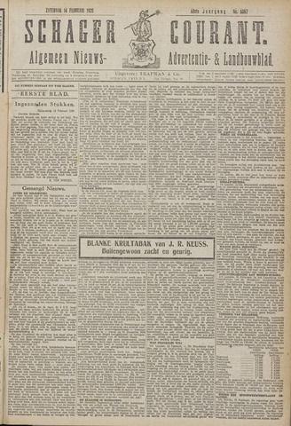 Schager Courant 1920-02-14