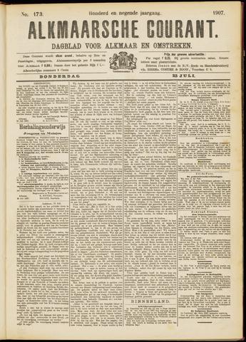 Alkmaarsche Courant 1907-07-25