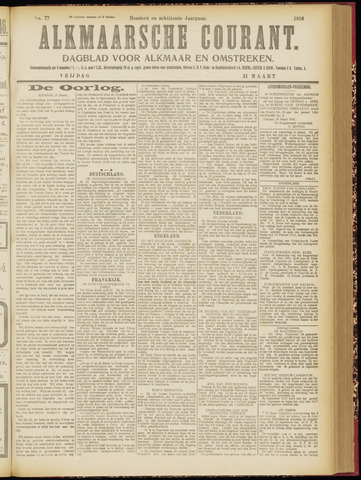 Alkmaarsche Courant 1916-03-31