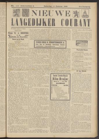 Nieuwe Langedijker Courant 1926-10-30
