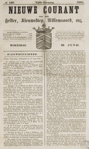 Nieuwe Courant van Den Helder 1865-06-28