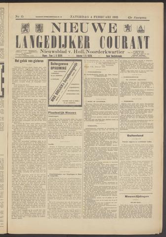 Nieuwe Langedijker Courant 1933-02-04