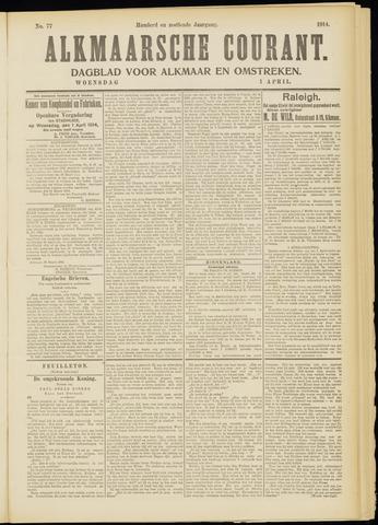 Alkmaarsche Courant 1914-04-01
