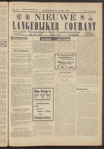 Nieuwe Langedijker Courant 1932-04-30