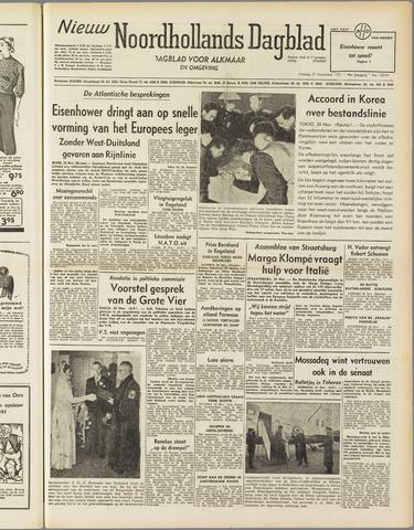 Nieuw Noordhollandsch Dagblad : voor Alkmaar en omgeving 1951-11-27