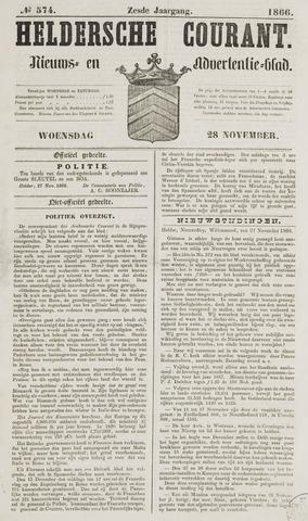 Heldersche Courant 1866-11-28