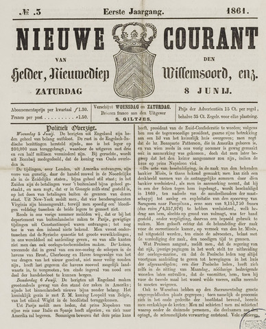 Nieuwe Courant van Den Helder 1861-06-08