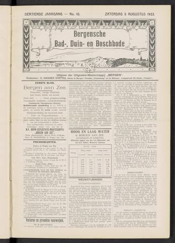 Bergensche bad-, duin- en boschbode 1922-08-05