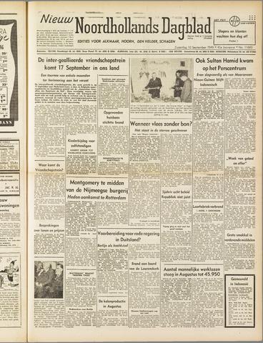 Nieuw Noordhollandsch Dagblad : voor Alkmaar en omgeving 1949-09-10
