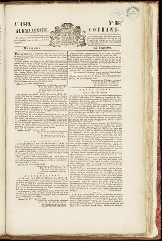 Alkmaarsche Courant 1849-08-27