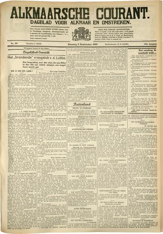 Alkmaarsche Courant 1933-09-05