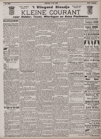 Vliegend blaadje : nieuws- en advertentiebode voor Den Helder 1902-07-05