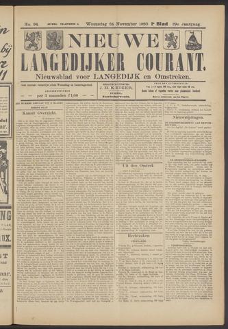 Nieuwe Langedijker Courant 1920-11-24