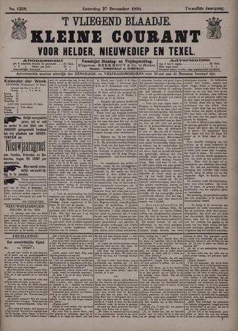 Vliegend blaadje : nieuws- en advertentiebode voor Den Helder 1884-12-27