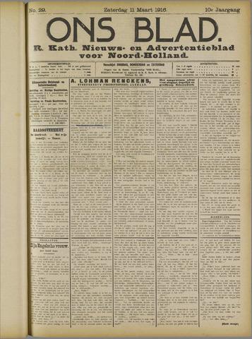 Ons Blad : katholiek nieuwsblad voor N-H 1916-03-11