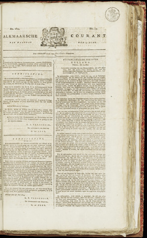 Alkmaarsche Courant 1824-06-14