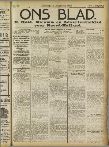 Ons Blad : katholiek nieuwsblad voor N-H 1912-08-13