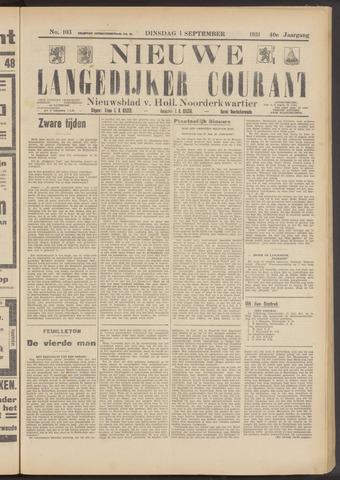 Nieuwe Langedijker Courant 1931-09-01