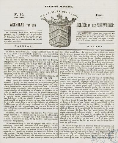 Weekblad van Den Helder en het Nieuwediep 1854-03-06