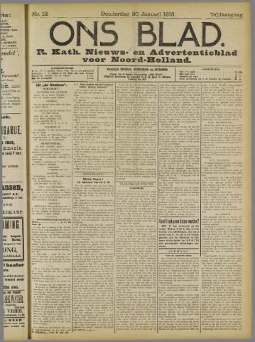 Ons Blad : katholiek nieuwsblad voor N-H 1913-01-30