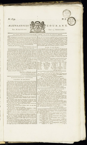 Alkmaarsche Courant 1839-02-25