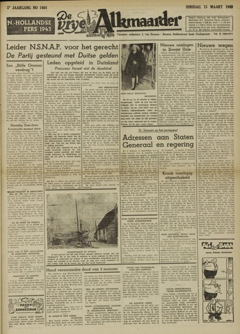 De Vrije Alkmaarder 1949-03-15