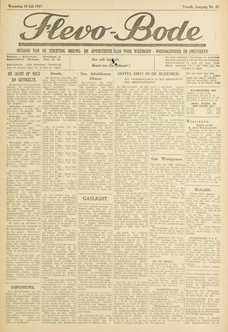 Flevo-bode: nieuwsblad voor Wieringen-Wieringermeer 1947-07-16