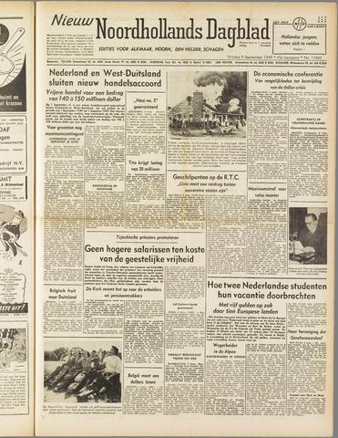 Nieuw Noordhollandsch Dagblad : voor Alkmaar en omgeving 1949-09-09