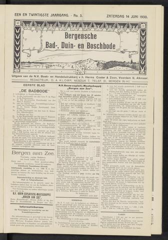 Bergensche bad-, duin- en boschbode 1930-06-14