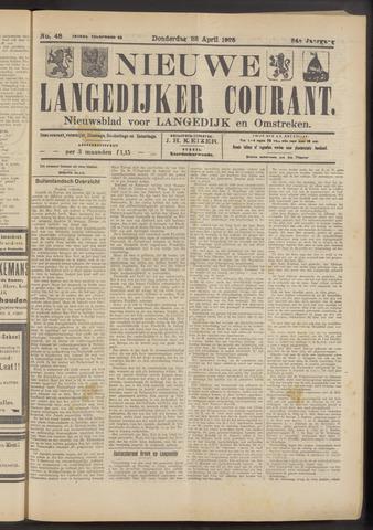 Nieuwe Langedijker Courant 1925-04-23