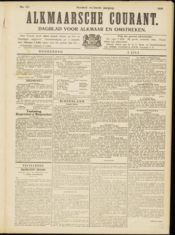 Alkmaarsche Courant 1908-07-02