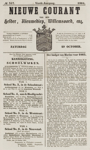 Nieuwe Courant van Den Helder 1864-10-29