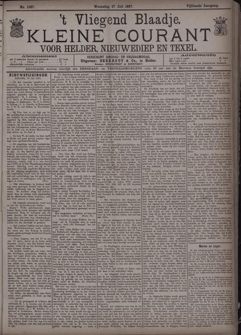 Vliegend blaadje : nieuws- en advertentiebode voor Den Helder 1887-07-27