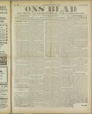 Ons Blad : katholiek nieuwsblad voor N-H 1920-12-21