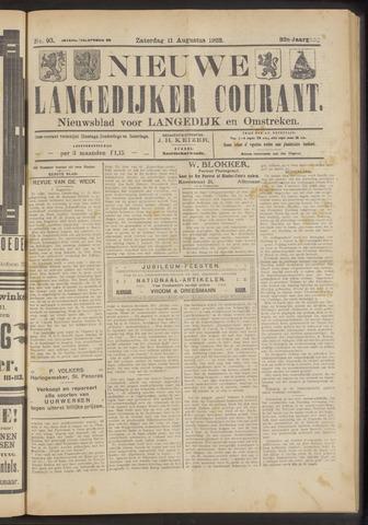 Nieuwe Langedijker Courant 1923-08-11