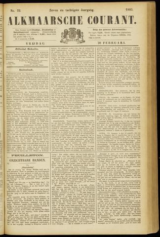 Alkmaarsche Courant 1885-02-20