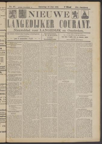 Nieuwe Langedijker Courant 1921-07-16