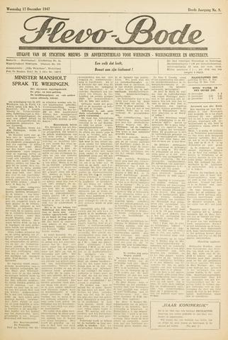 Flevo-bode: nieuwsblad voor Wieringen-Wieringermeer 1947-12-17