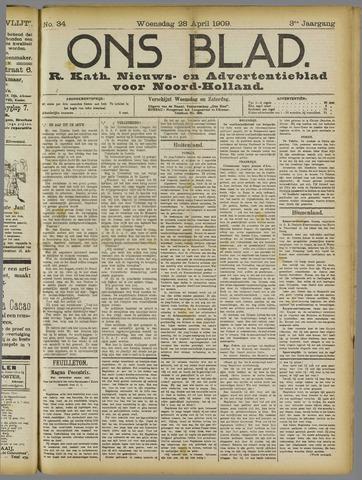 Ons Blad : katholiek nieuwsblad voor N-H 1909-04-28