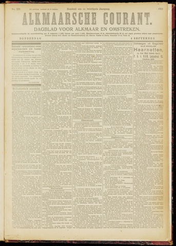 Alkmaarsche Courant 1919-09-04