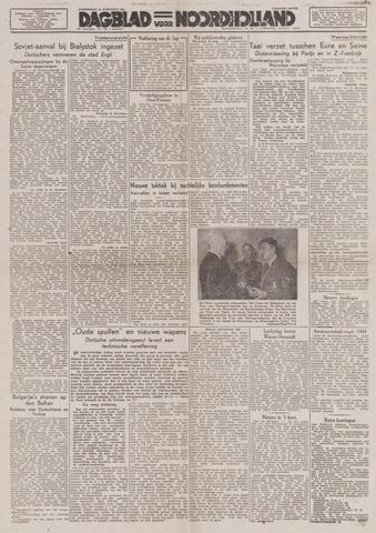 Dagblad Noord-Holland, Schager editie 1944-08-24