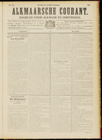 Alkmaarsche Courant 1910-06-10