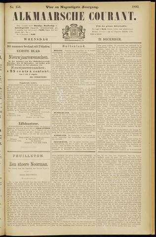 Alkmaarsche Courant 1892-12-21