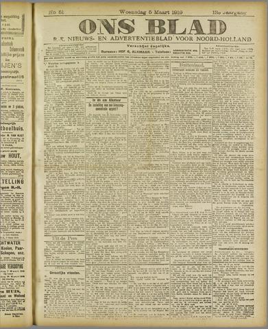 Ons Blad : katholiek nieuwsblad voor N-H 1919-03-05