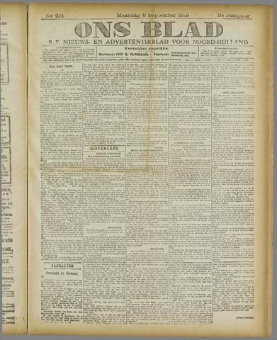 Ons Blad : katholiek nieuwsblad voor N-H 1919-09-08